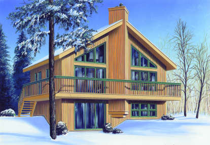 2 Bed, 2 Bath, 1574 Square Foot House Plan - #034-00067