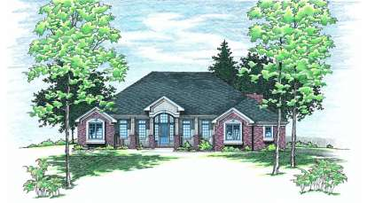 3 Bed, 2 Bath, 2538 Square Foot House Plan - #402-00341