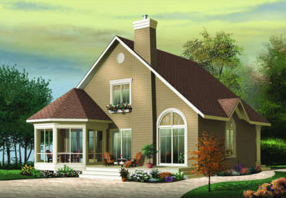 3 Bed, 2 Bath, 1468 Square Foot House Plan - #034-00069
