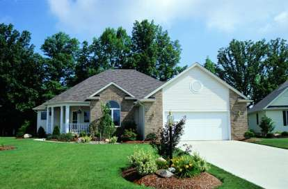 2 Bed, 2 Bath, 1554 Square Foot House Plan - #402-00359