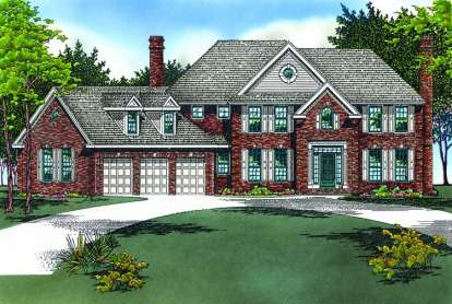 4 Bed, 2 Bath, 3404 Square Foot House Plan - #402-00365