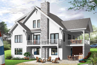 3 Bed, 2 Bath, 1625 Square Foot House Plan - #034-00071