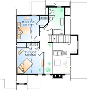 Second Floor for House Plan #034-00071