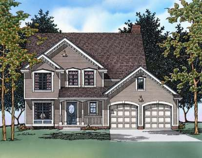 4 Bed, 2 Bath, 2517 Square Foot House Plan - #402-00378