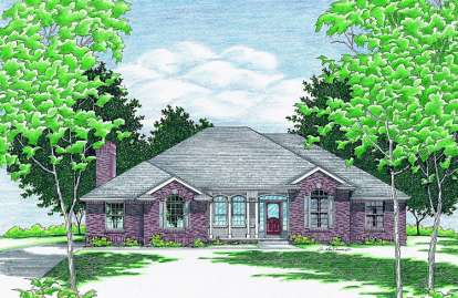 3 Bed, 2 Bath, 1973 Square Foot House Plan - #402-00379