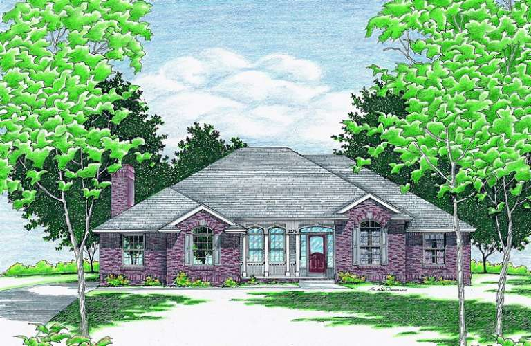 Traditional House Plan #402-00379 Elevation Photo