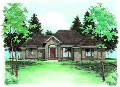 3 Bed, 2 Bath, 2083 Square Foot House Plan - #402-00385