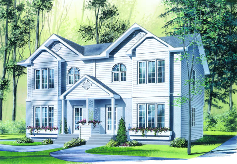 Traditional House Plan #034-00072 Elevation Photo