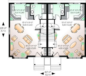 First Floor for House Plan #034-00072