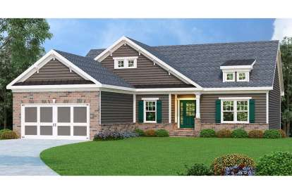3 Bed, 2 Bath, 1856 Square Foot House Plan - #009-00026