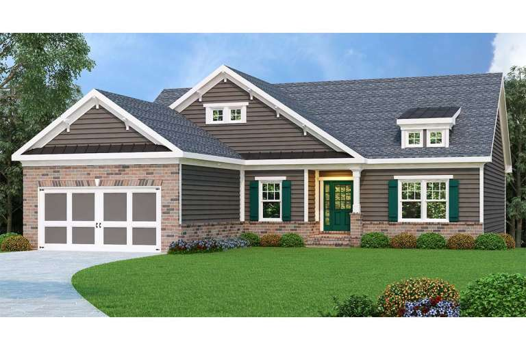 Traditional House Plan #009-00026 Elevation Photo