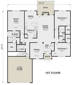 Main Floor for House Plan #009-00026