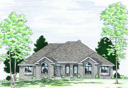 3 Bed, 2 Bath, 2187 Square Foot House Plan - #402-00441