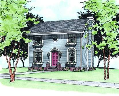 3 Bed, 2 Bath, 1561 Square Foot House Plan - #402-00444