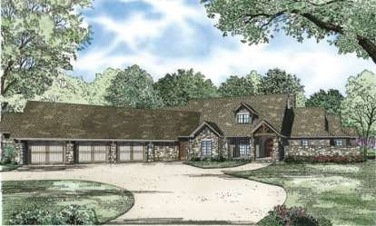 3 Bed, 3 Bath, 4080 Square Foot House Plan - #110-00192