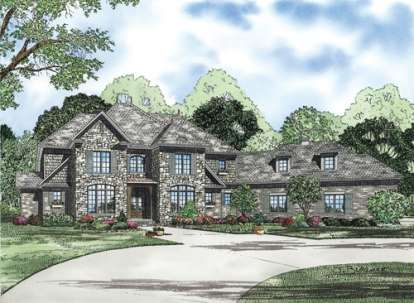 4 Bed, 3 Bath, 4378 Square Foot House Plan - #110-00193