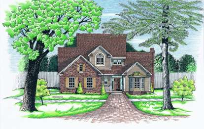 3 Bed, 2 Bath, 2069 Square Foot House Plan - #402-00497