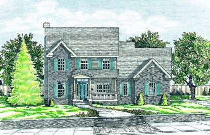 3 Bed, 2 Bath, 1778 Square Foot House Plan - #402-00498