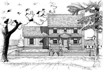 3 Bed, 2 Bath, 1628 Square Foot House Plan - #402-00500