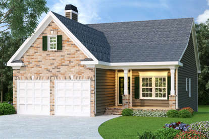 3 Bed, 2 Bath, 1592 Square Foot House Plan - #009-00027