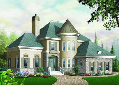3 Bed, 2 Bath, 2338 Square Foot House Plan - #034-00076