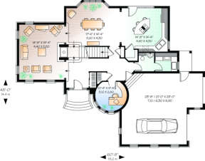 First Floor for House Plan #034-00076