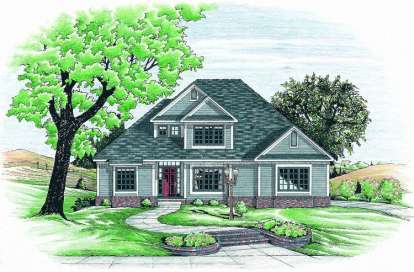 3 Bed, 2 Bath, 2221 Square Foot House Plan - #402-00521