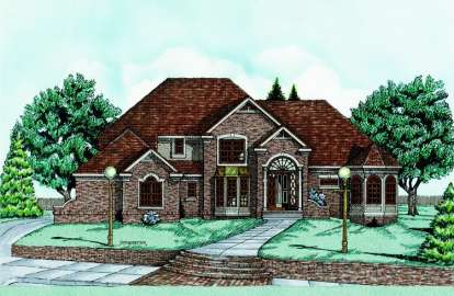 4 Bed, 2 Bath, 3480 Square Foot House Plan - #402-00523