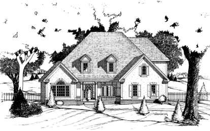 4 Bed, 2 Bath, 2512 Square Foot House Plan - #402-00530