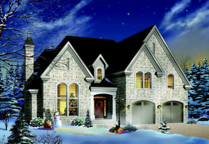 4 Bed, 3 Bath, 2991 Square Foot House Plan - #034-00078