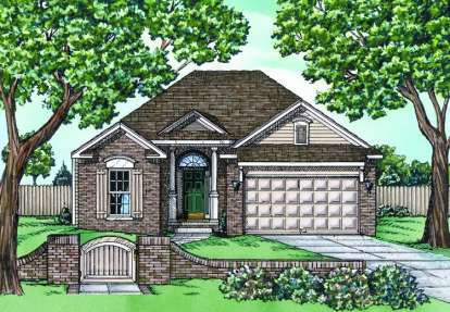 2 Bed, 2 Bath, 1339 Square Foot House Plan - #402-00538