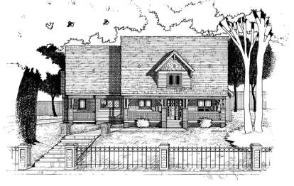 3 Bed, 2 Bath, 2681 Square Foot House Plan - #402-00541