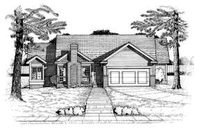 Ranch House Plan #402-00545 Elevation Photo