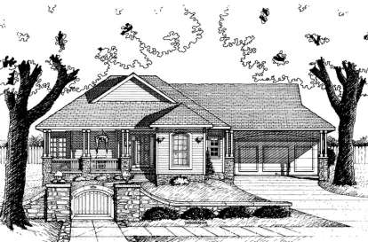 1 Bed, 1 Bath, 1385 Square Foot House Plan - #402-00555
