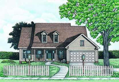 2 Bed, 2 Bath, 1437 Square Foot House Plan #402-00564