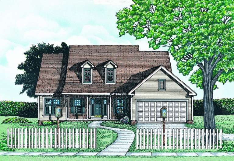 Ranch House Plan #402-00564 Elevation Photo