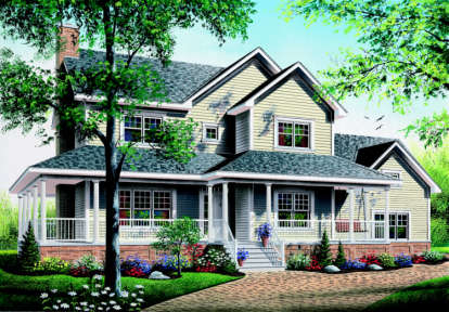 3 Bed, 2 Bath, 2129 Square Foot House Plan - #034-00081