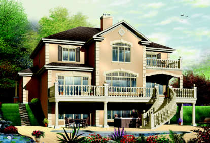 4 Bed, 3 Bath, 3251 Square Foot House Plan - #034-00083