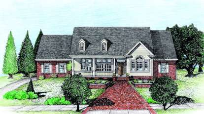 3 Bed, 2 Bath, 2188 Square Foot House Plan - #402-00586