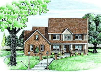 4 Bed, 2 Bath, 2333 Square Foot House Plan - #402-00587