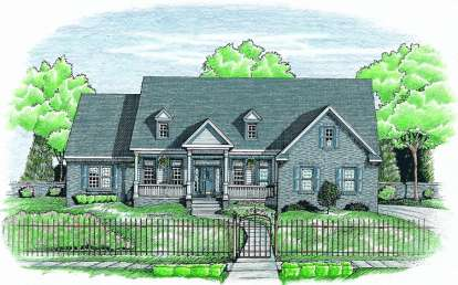 3 Bed, 2 Bath, 2586 Square Foot House Plan - #402-00591