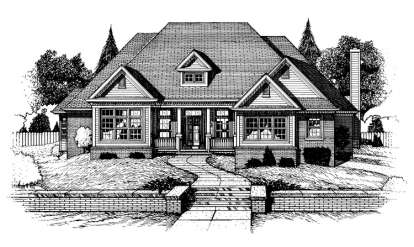 3 Bed, 2 Bath, 2579 Square Foot House Plan - #402-00593