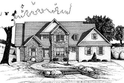 4 Bed, 3 Bath, 3278 Square Foot House Plan - #402-00600