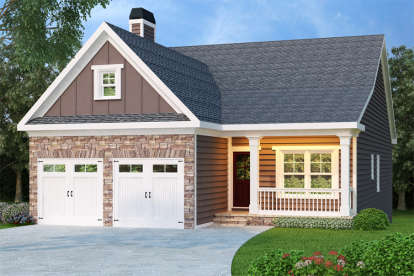 3 Bed, 2 Bath, 1592 Square Foot House Plan - #009-00028