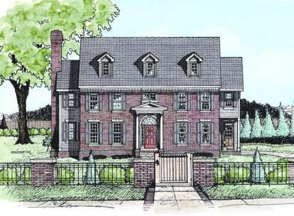 4 Bed, 3 Bath, 3422 Square Foot House Plan - #402-00609