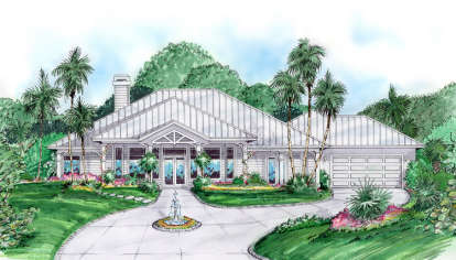 4 Bed, 3 Bath, 3249 Square Foot House Plan - #575-00005