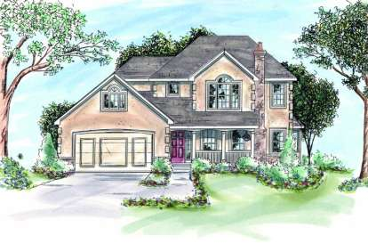 3 Bed, 2 Bath, 1885 Square Foot House Plan - #402-00624