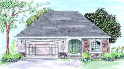 2 Bed, 2 Bath, 1546 Square Foot House Plan - #402-00630