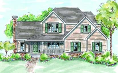 4 Bed, 2 Bath, 2492 Square Foot House Plan - #402-00632