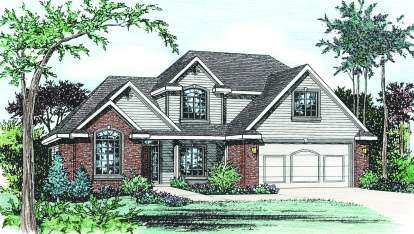4 Bed, 3 Bath, 2771 Square Foot House Plan - #402-00666